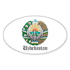 Uzbekistani Coat of Arms Seal Oval Decal