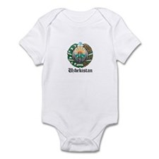 Uzbekistani Coat of Arms Seal Infant Bodysuit