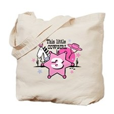 Little Cowgirl 3rd Birthday Tote Bag