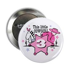 "Little Cowgirl 3rd Birthday 2.25"" Button"