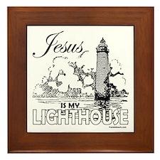 JESUS IS MY LIGHTHOUSE Framed Tile