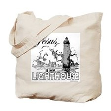 JESUS IS MY LIGHTHOUSE Tote Bag