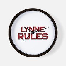 lynne rules Wall Clock