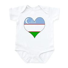 I Love Uzbekistan Infant Bodysuit