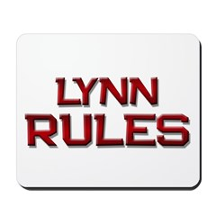 lynn rules Mousepad