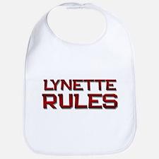 lynette rules Bib