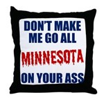 Minnesota Baseball Throw Pillow