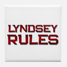 lyndsey rules Tile Coaster