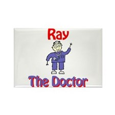 Ray - The Doctor Rectangle Magnet