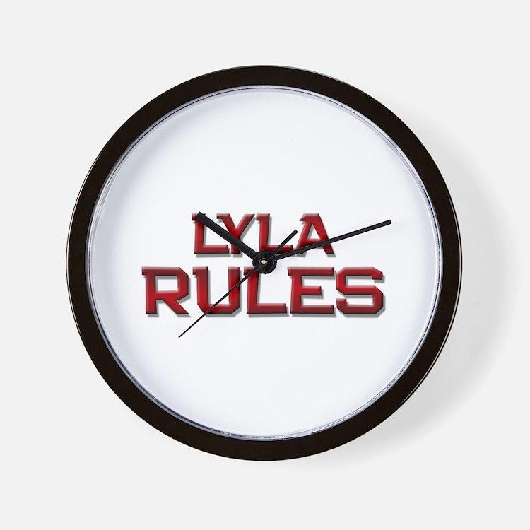 lyla rules Wall Clock