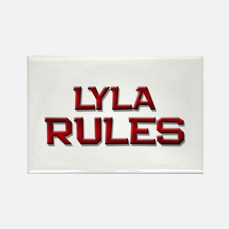 lyla rules Rectangle Magnet
