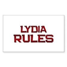 lydia rules Rectangle Decal