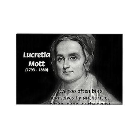 Feminism Lucretia Mott Rectangle Magnet (100 pack)