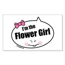 Flower Girl Rectangle Decal