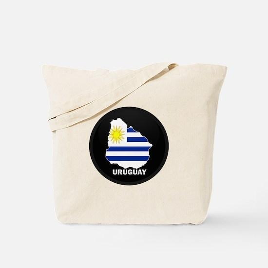 Flag Map of Uruguay Tote Bag