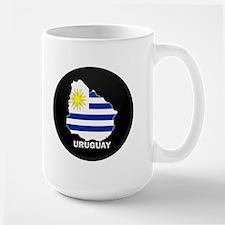 Flag Map of Uruguay Mug
