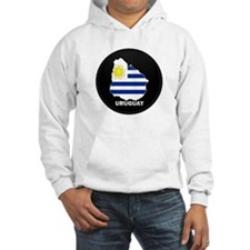 Flag Map of Uruguay Hoodie