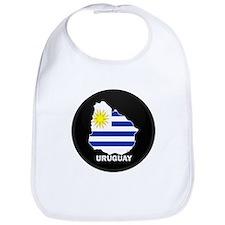 Flag Map of Uruguay Bib