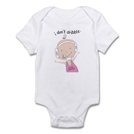 I Don't Dribble - Girl Infant Bodysuit
