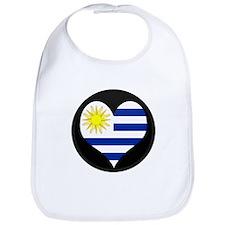 I love Uruguay Flag Bib