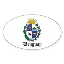 Uruguayan Coat of Arms Seal Oval Decal