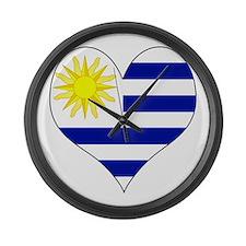 I Love Uruguay Large Wall Clock
