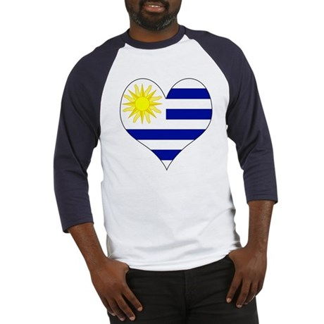 I Love Uruguay Baseball Jersey