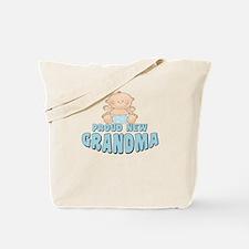 New Grandma Baby Boy Tote Bag