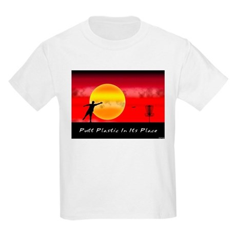 Putt Plastic In Its Place Kids Light T-Shirt