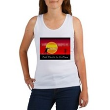 Putt Plastic In Its Place Women's Tank Top