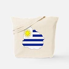 Uruguay Flag Map Tote Bag