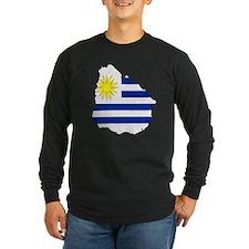 Uruguay Flag Map T