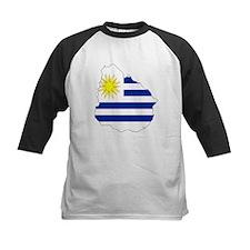 Uruguay Flag Map Tee