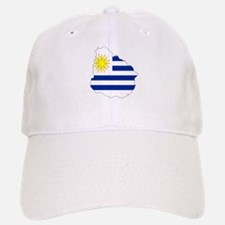 Uruguay Flag Map Baseball Baseball Cap