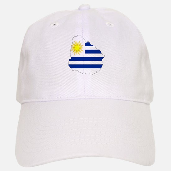Uruguay Flag Map Baseball Baseball Cap