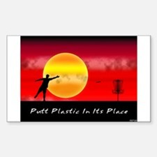 Putt Plastic In Its Place Rectangle Decal