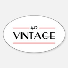 40th Birthday Vintage Oval Decal
