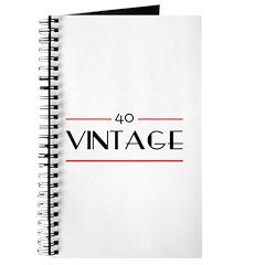 40th Birthday Vintage Journal