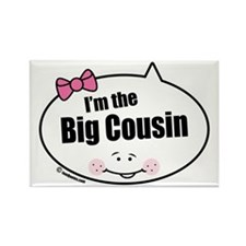Girl Big Cousin Rectangle Magnet