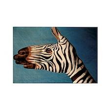 Hand Zebra Rectangle Magnet