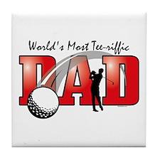 Tee-riffic Dad Tile Coaster