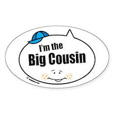 Boy Big Cousin Oval Decal
