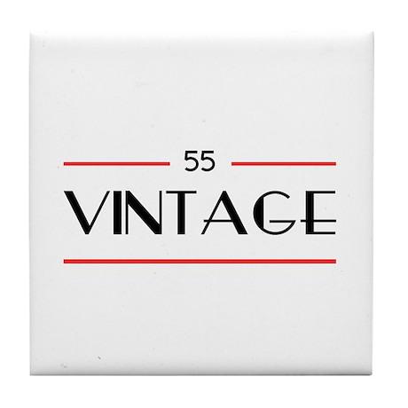 55th Birthday Vintage Tile Coaster