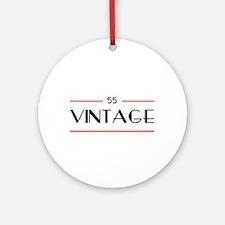55th Birthday Vintage Ornament (Round)