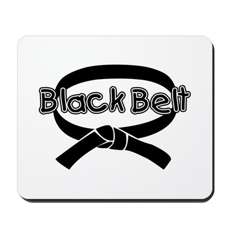 Black Belt 2 Mousepad