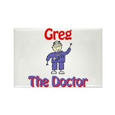 Greg - The Doctor Rectangle Magnet