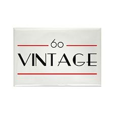 60th Birthday Vintage Rectangle Magnet