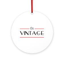 65th Birthday Vintage Ornament (Round)