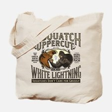 Sasquatch Uppercut White Lightning Tote Bag