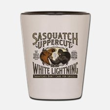 Sasquatch Uppercut White Lightning Shot Glass